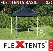Flextelt  2x2m Sort