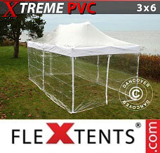 Flextelt 3x6m Transparent, inkl. 6 sider