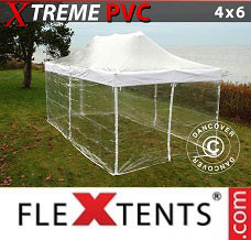 Flextelt 4x6m Transparent, inkl. 8 sider
