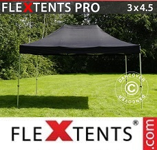 Flextelt  3x4,5m Sort