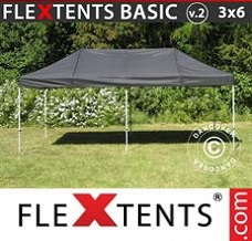 Flextelt 3x6m Sort
