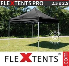 Flextelt 2,5x2,5m Sort