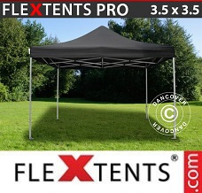 Flextelt 3,5x3,5m Sort